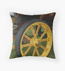 Traction Engine Front Wheel Throw Pillow