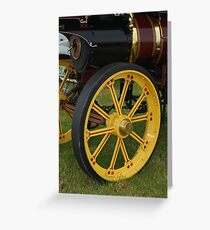 Traction Engine Front Wheel Greeting Card