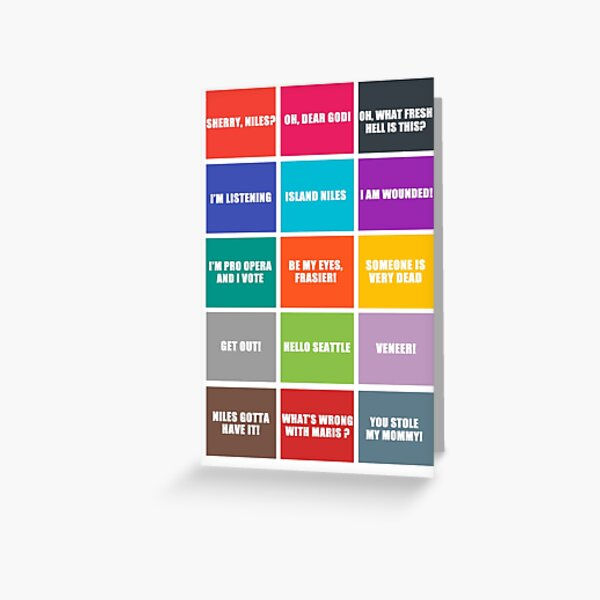 Frasier best quotes Greeting Card
