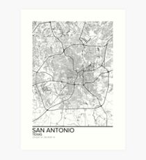 San Antonio map poster print wall art, Texas gift printable, Home and Nursery, Modern map decor for office, Map Art, Map Gifts Art Print