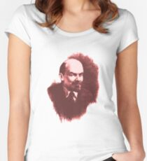 LENIN RED PORTRET  Women's Fitted Scoop T-Shirt