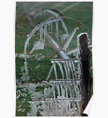 Irrigation on Ice - Junction, Utah Poster