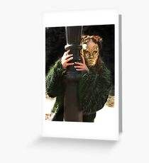 Annoynmous Follower..show image 1 Greeting Card