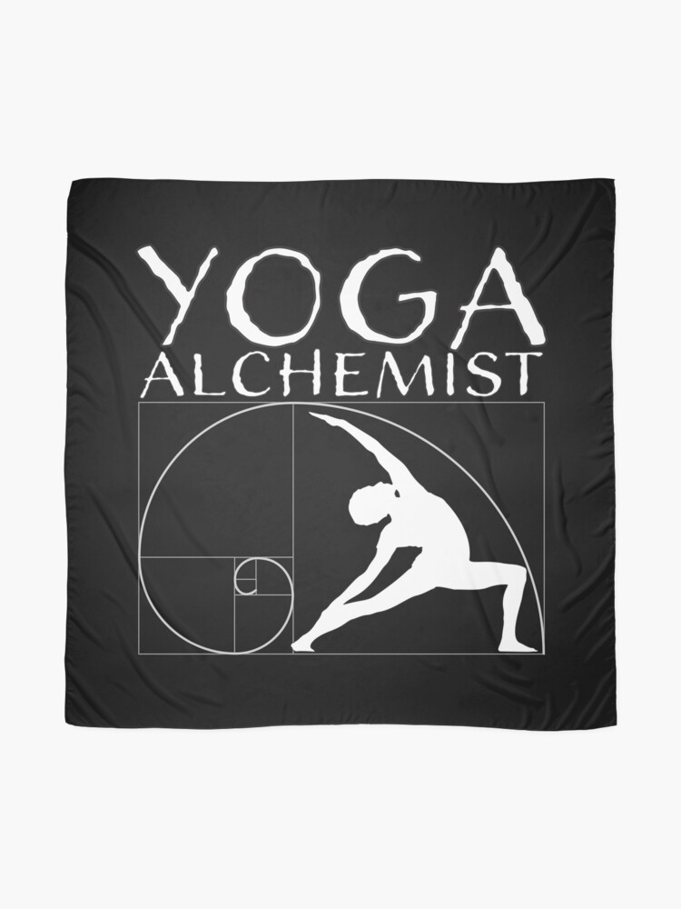 Alternate view of Yoga alchemist and the golden ratio Scarf