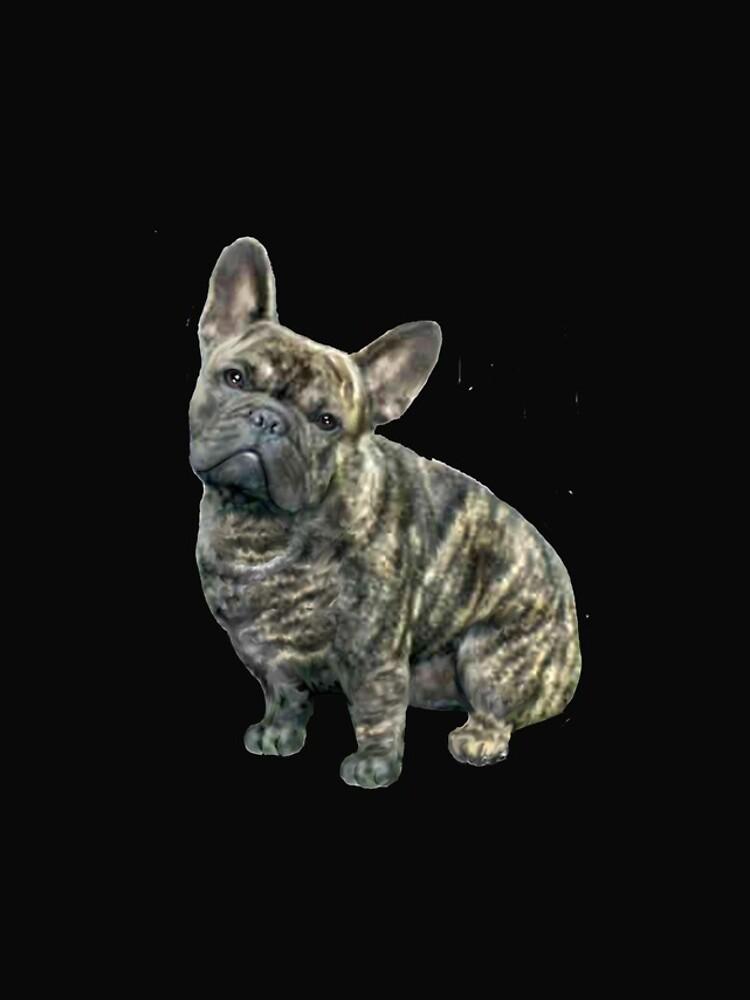 French Bulldog - brindle by JeanBFitzgerald