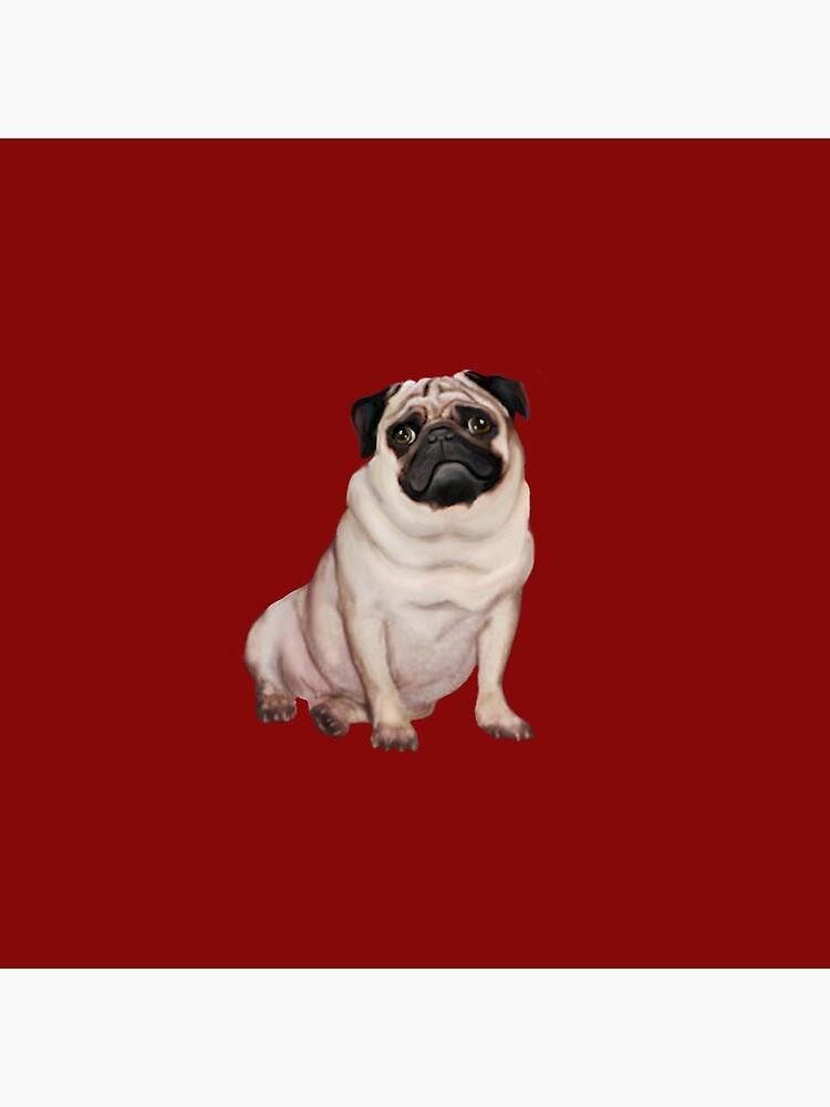 Pug - cervatillo (# 2) de JeanBFitzgerald