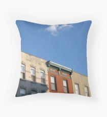 Rowhouses Throw Pillow