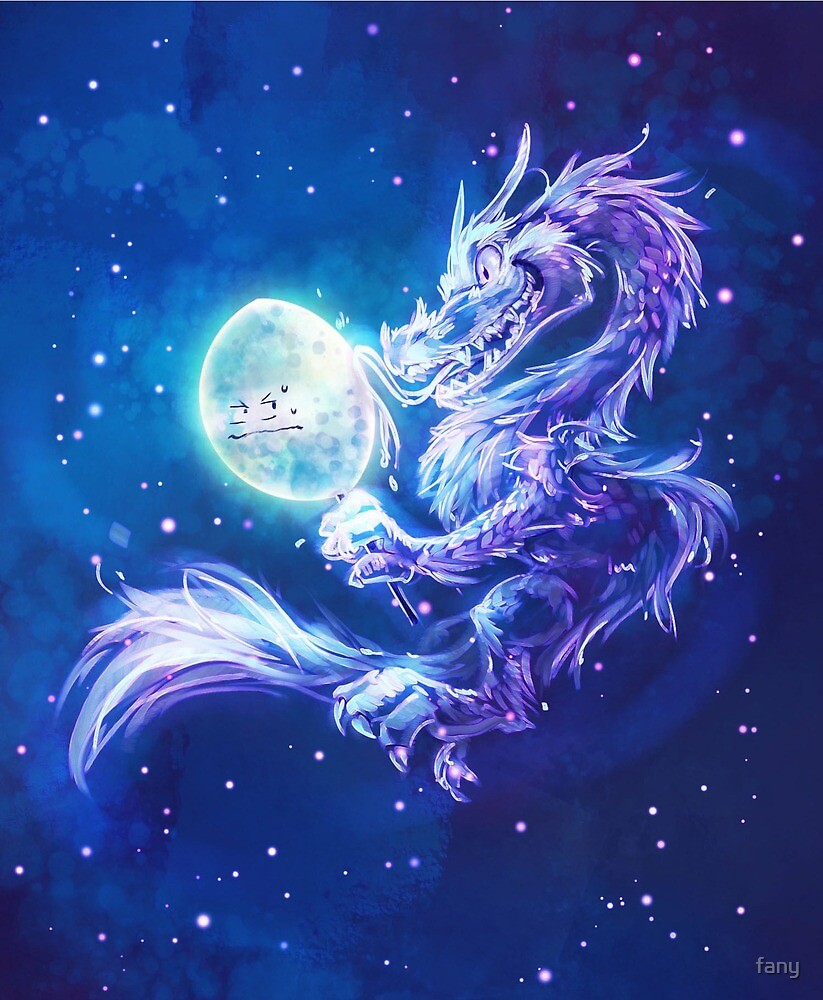 Moon Dragon from Trivia from Nature comic by fany