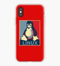 Linux tux penguin obama poster iPhone Case