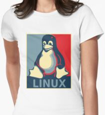 Linux tux penguin obama poster T-Shirt