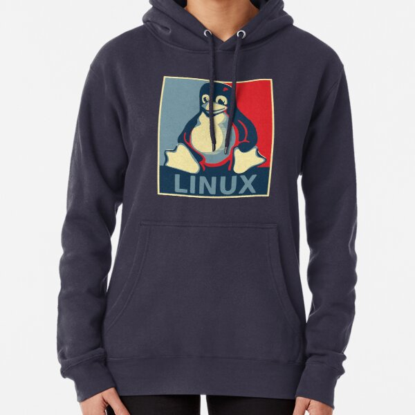 Linux tux penguin obama poster Pullover Hoodie