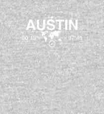 Austin Texas Map Artwork   Kids Pullover Hoodie