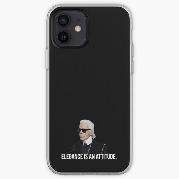 L'élégance est une attitude - Karl Lagerfeld Coque souple iPhone