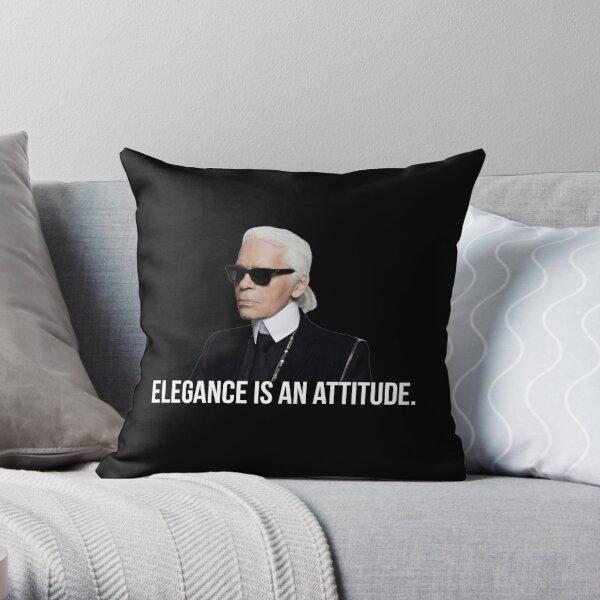 L'élégance est une attitude - Karl Lagerfeld Coussin