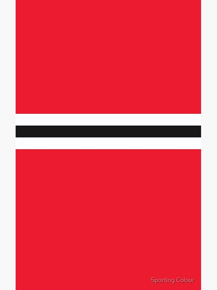 Manchester United Red White Black Colours Bar Design Greeting Card By Culture Factory Redbubble