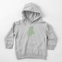 Maine Love in Sage Toddler Pullover Hoodie