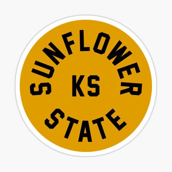 Sunflower State - Kansas - KS (GELB) Sticker