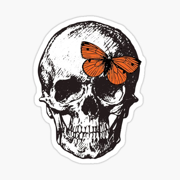 Without Me Skull - Halsey Sticker