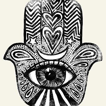 Hamsa - Amuleto para protección mágica y buena suerte. de wolfandbird