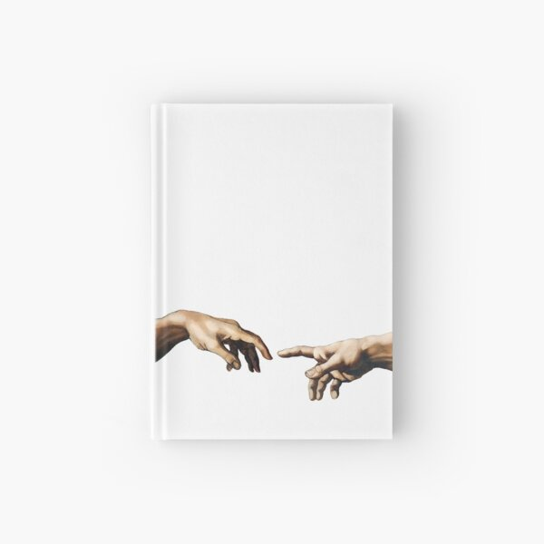 Hands of God and Adam Hardcover Journal