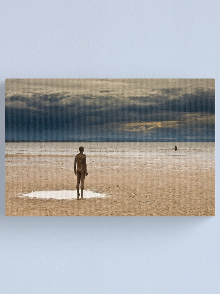 Alternate view of Crosby Beach - Anthony Gormley Statues  Canvas Print