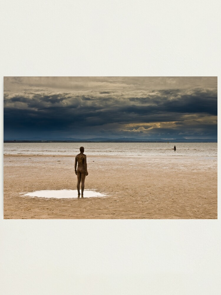 Alternate view of Crosby Beach - Anthony Gormley Statues  Photographic Print