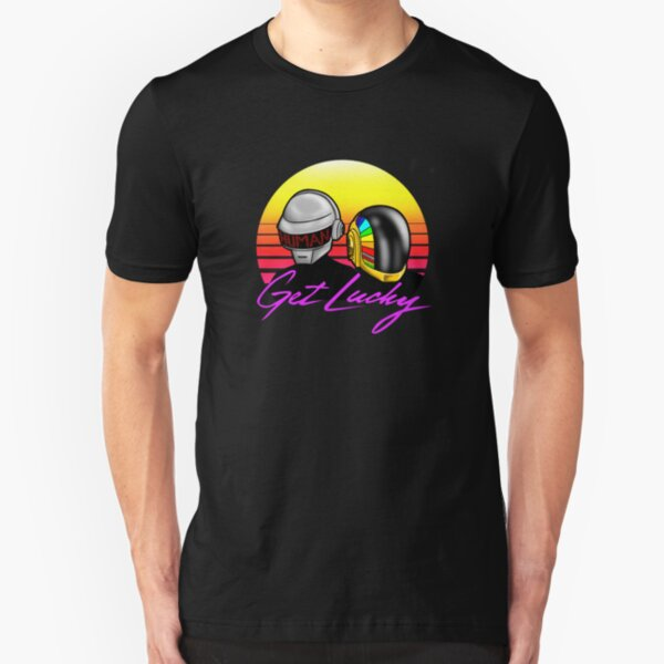 Retro Daft Punk Slim Fit T-Shirt