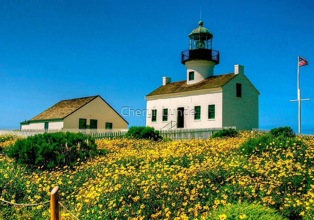 Old Point Loma Lighthouse by Cheryl  Lunde