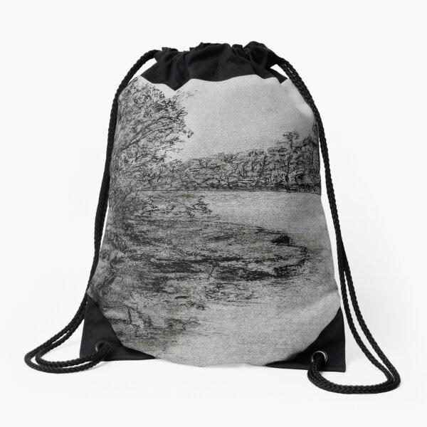 Lane Cove River  (Morning) Drawstring Bag
