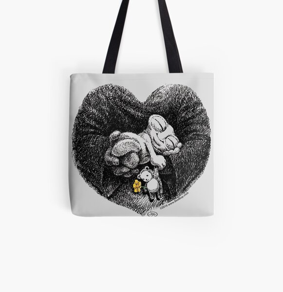 BeeBop the Alien- Dreaming of Earth All Over Print Tote Bag