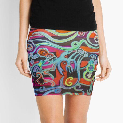 Hexagram 51: Zhen (Thunder) Mini Skirt