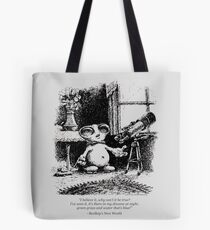 """BeeBop the Alien- """"Why can't it be true?"""" Tote Bag"""