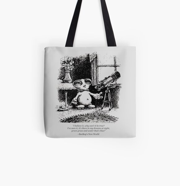 """BeeBop the Alien- """"Why can't it be true?"""" All Over Print Tote Bag"""