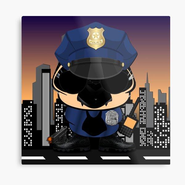 Simon - The Little Police In New York City Metal Print