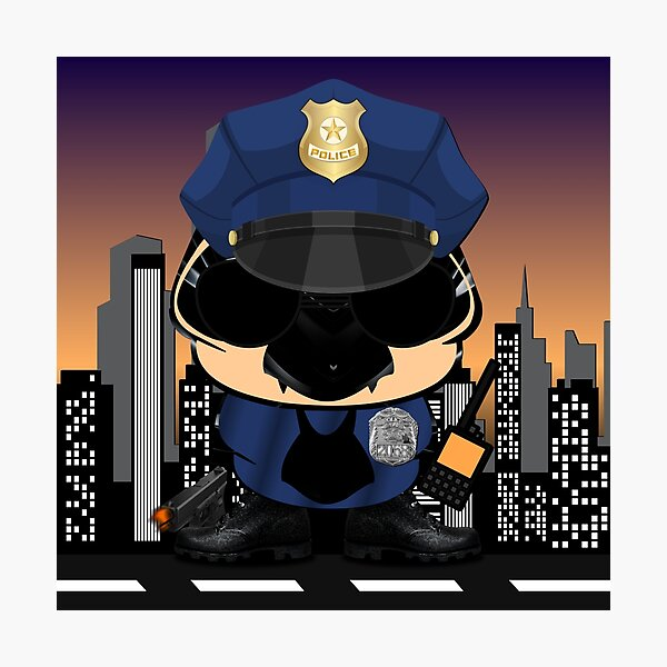 Simon - The Little Police In New York City Photographic Print