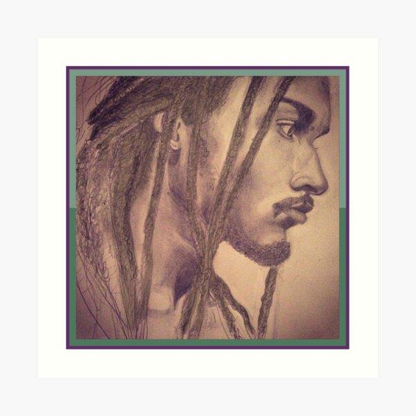 Portrait of Gorgeous Ebony Man Art Print