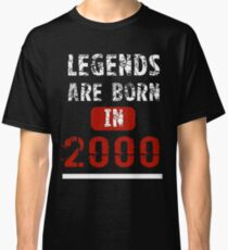 Legends Are Born In 2000 18 Years Old Classic T-Shirt