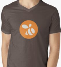 Camiseta de cuello en V Logotipo de enjambre