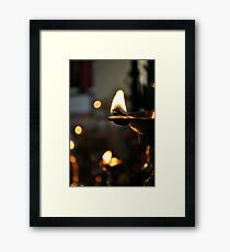Lazy Lamps Framed Print