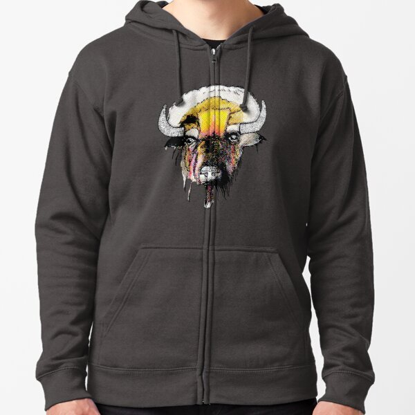 The Bison Zipped Hoodie