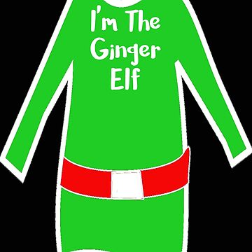 Matching Christmas Shirts Ginger Elf by stacyanne324