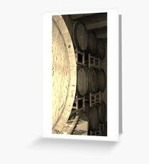 Oak wine barrals Greeting Card