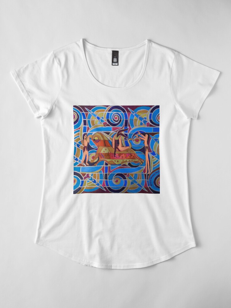 Alternate view of Hexagram 26: Ta Ch'u (Controlled Power) Premium Scoop T-Shirt