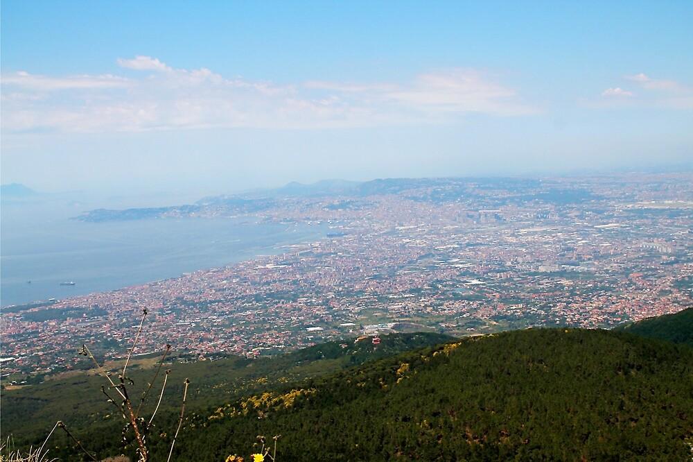 Naples from Vesuvius  by AlistairBlake