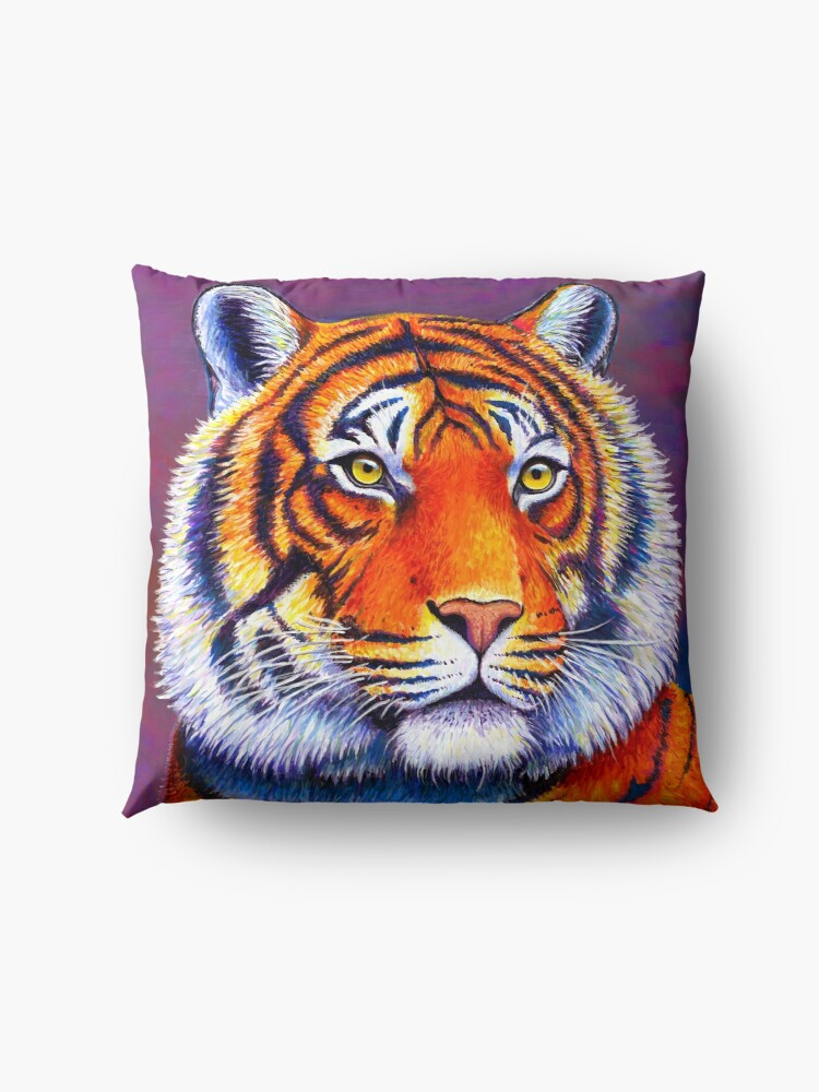 Alternate view of Fiery Beauty - Colorful Bengal Tiger Floor Pillow