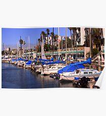 Redondo Beach Harbor 1115 Poster