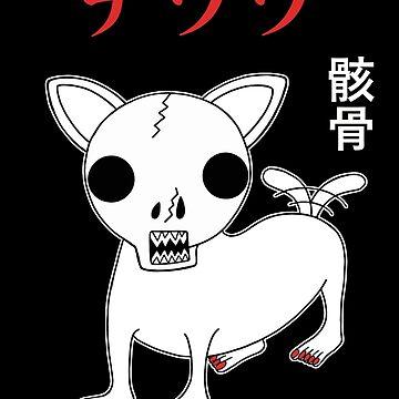 Skull Chihuahua (black) by RYURAKUDO