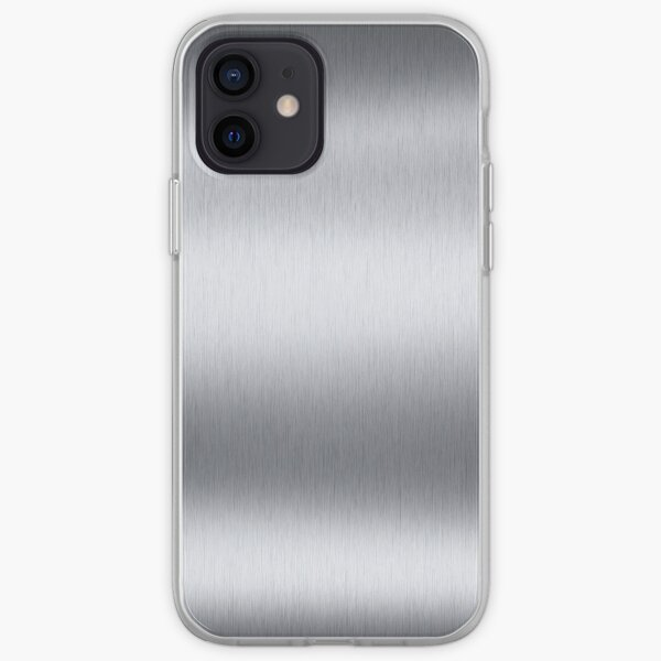Stainless steel, metal, texture, #Stainless, #steel, #metal, #texture, #StainlessSteel iPhone Soft Case
