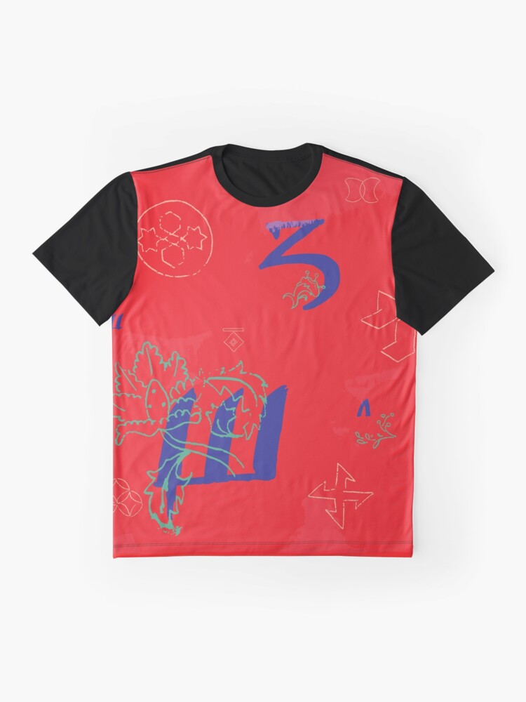 Alternate view of Calligraphic Texture #6 Graphic T-Shirt