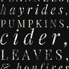 Flannels, Hayrides and Pumpkins Fall Tshirt by Vroomie